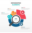 abstract magnifier business infographics elements vector image
