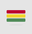 Bolivia flag state symbol stylized geometric vector image