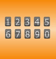 Digital flip numbers on orange background vector image
