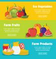 flat farm banners vector image