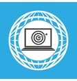 Globe computer targget communication vector image