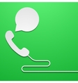 modern phone with bubble speech vector image