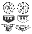 set of drone flying club labels badges vector image