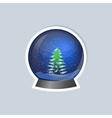 Sticker with a picture of a snow globe vector image