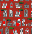War seamless pattern Ruined city Tanks in town vector image