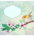 Sparrow on a branch vector image