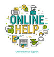 online technical support - round concept vector image