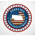 Vintage label Nebraska vector image vector image