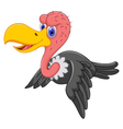 cute Vulture cartoon flying vector image vector image