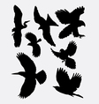 Bird flying animal silhouette 1 vector image