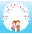Couple Travelling On Border vector image