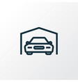 garage outline symbol premium quality isolated vector image