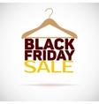 Hanger black friday poster sale vector image