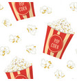 pop corn in a red stripped pack seamless pattern vector image