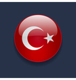 Round icon with flag of Turkey vector image