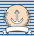 Nautical card or invitation with anchor vector image vector image