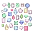 Set with diamonds jem stonesjewellery Stylized vector image vector image