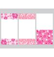 Bokeh And Flower Frame Decoration Set vector image