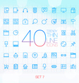 40 Trendy Thin Icons for web and mobile Set 8 vector image