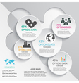 Abstract info graphic design template vector image