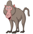 smiling baboon vector image vector image