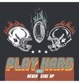 Play hard american football vector image vector image