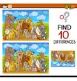 find differences cartoon task vector image vector image
