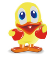 duck with hearts vector image vector image