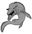 mosasaurus vector image vector image