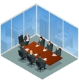 Business meeting in a modern office Speaker at vector image