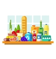 Food set on the table vector image vector image