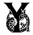 capital letter y with gargoyle vector image