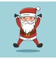 cartoon cheerful santa claus icon vector image