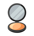 open powder compact or make up of vector image