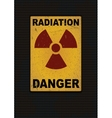 Radiation sign grunge background vector image