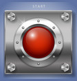 red start button ignition vector image
