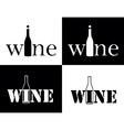 set symbol of wine vector image
