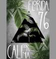 summer theme california florida grunge background vector image