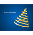 Christmas tree from ribbon vector image vector image