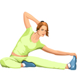 girl engaged in sports stretching vector image vector image