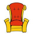 red throne isometric icon cartoon vector image