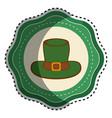 green sticker hat accessory st patrick vector image