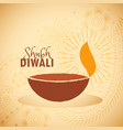 shubh diwali festival greeting card vector image
