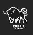 angry bull monochrome logo vector image vector image