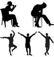 fashion silhouette vector image