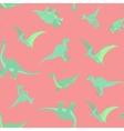Cartoon dinosaurs pattern vector image