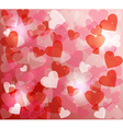 Valentines day love heart shape love bokeh vector image