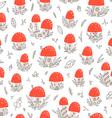 Mushroom houses pattern vector image