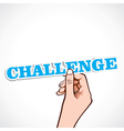 challenge word in hand vector image