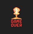 game over with pixel art explosion vector image